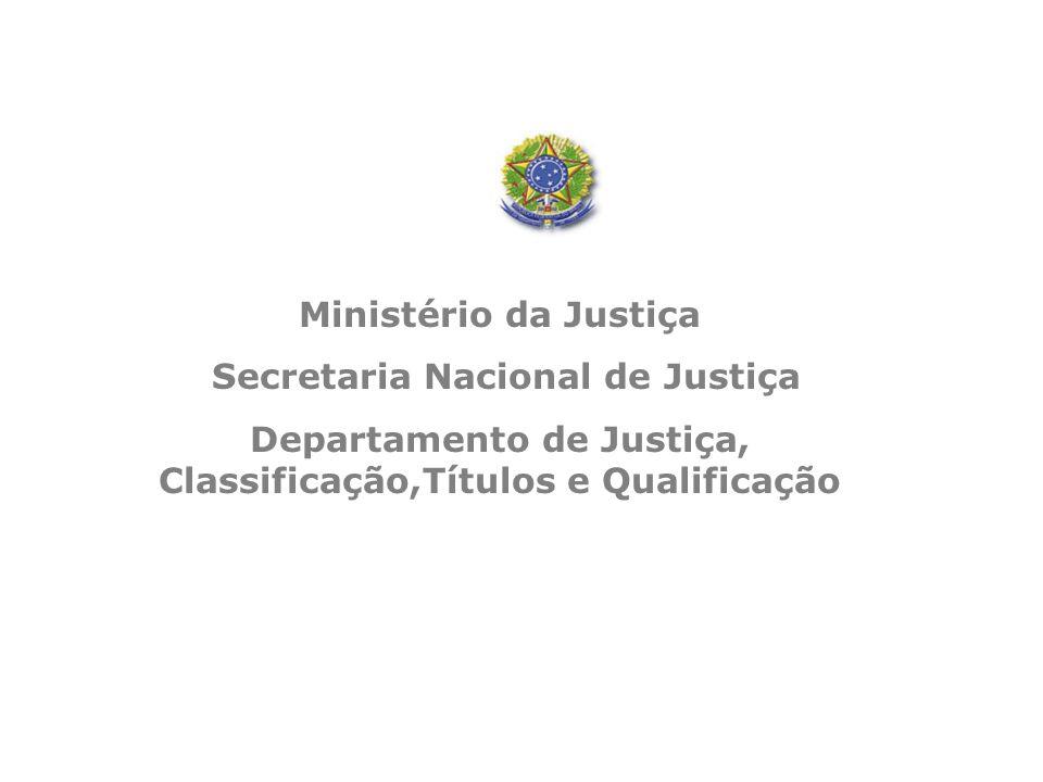 Departamento de Justiça, Classificação,Títulos e Qualificação