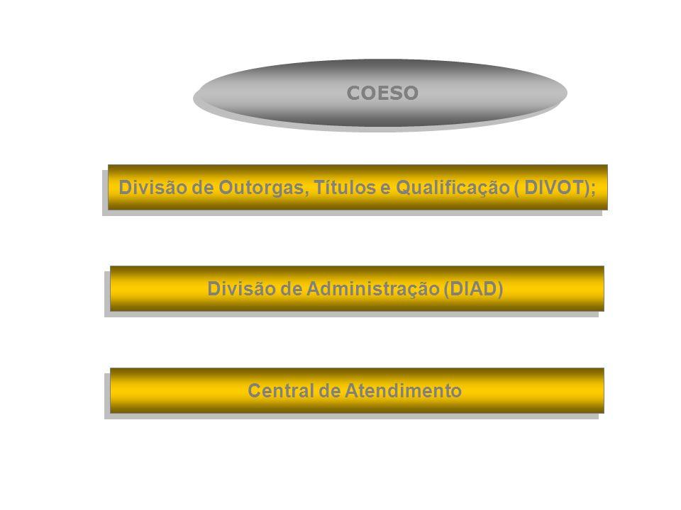 Divisão de Outorgas, Títulos e Qualificação ( DIVOT);