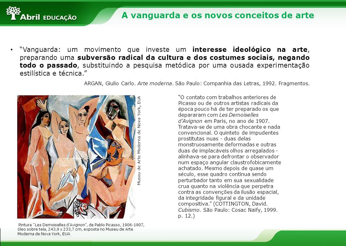 A vanguarda e os novos conceitos de arte