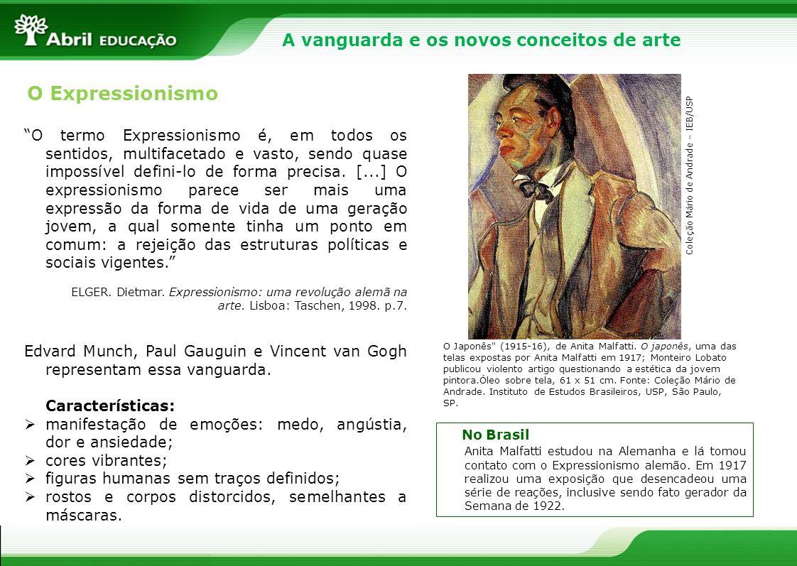 O Expressionismo A vanguarda e os novos conceitos de arte