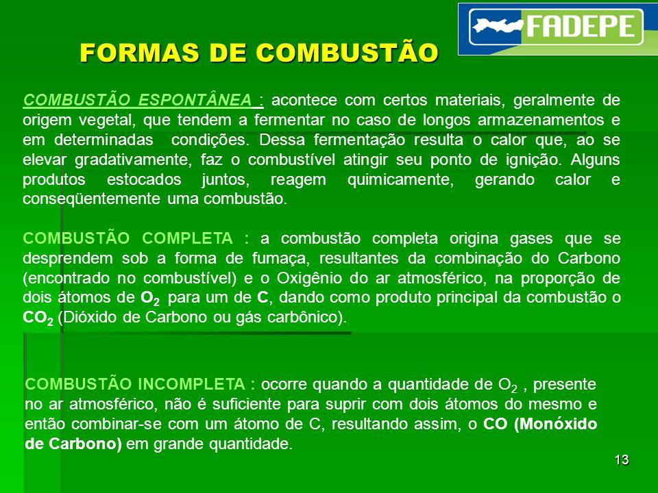 FORMAS DE COMBUSTÃO