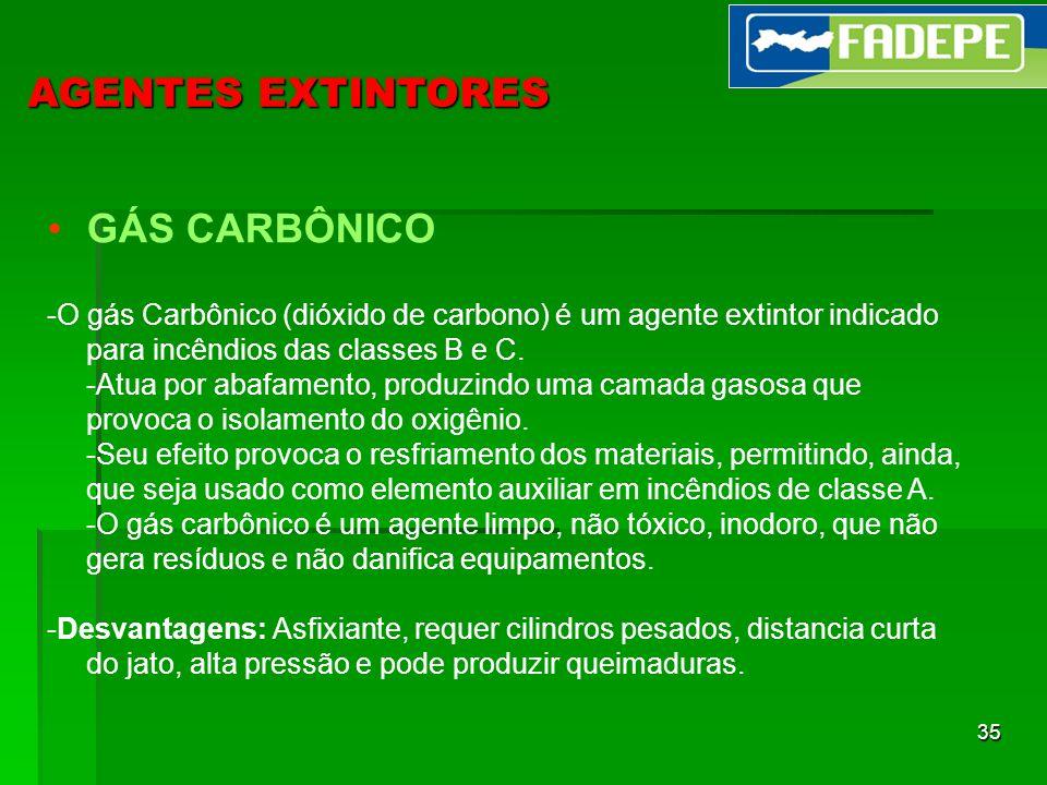 AGENTES EXTINTORES GÁS CARBÔNICO