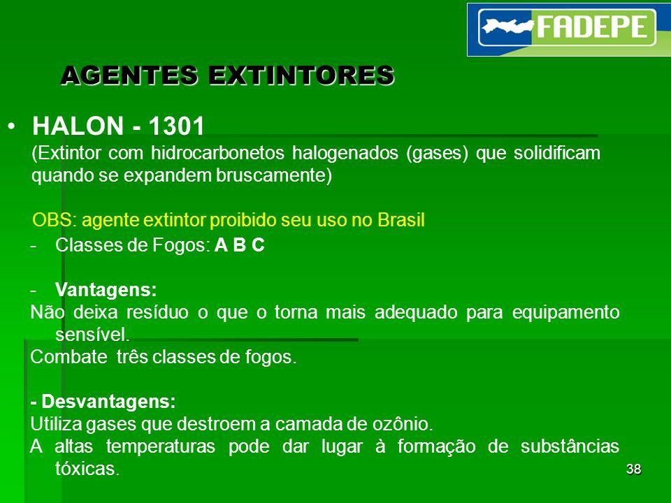 AGENTES EXTINTORES HALON - 1301