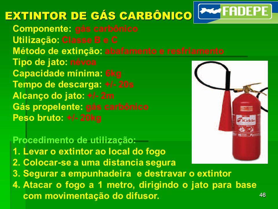 EXTINTOR DE GÁS CARBÔNICO