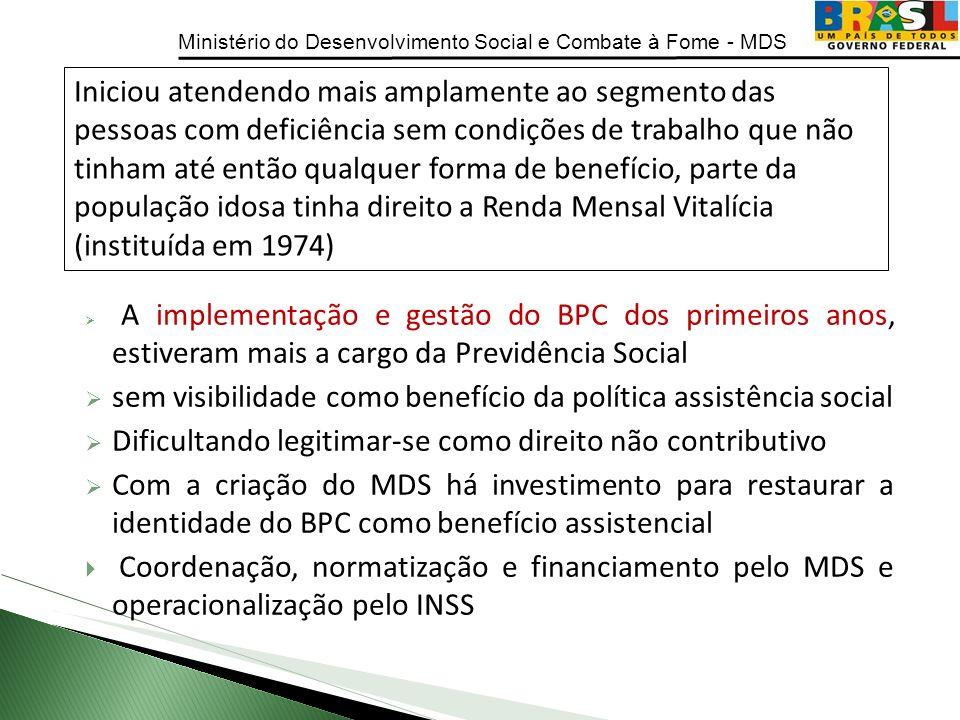 sem visibilidade como benefício da política assistência social