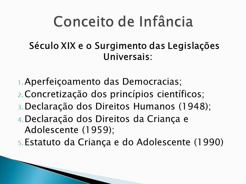 Século XIX e o Surgimento das Legislações Universais: