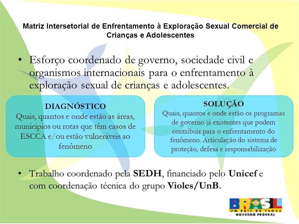 Matriz Intersetorial de Enfrentamento à Exploração Sexual Comercial de Crianças e Adolescentes