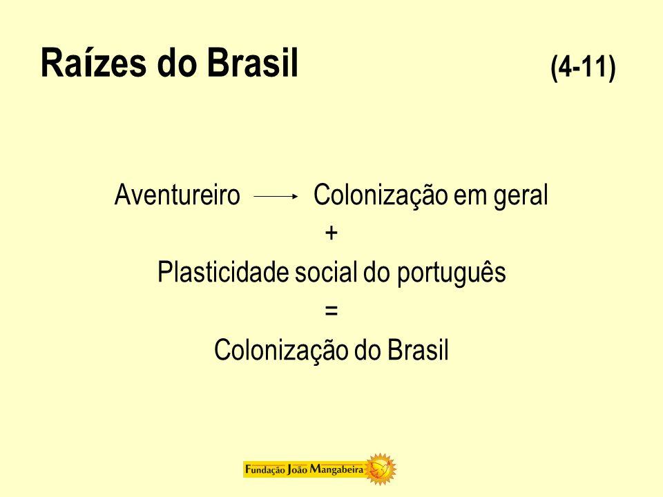 Raízes do Brasil (4-11) Aventureiro Colonização em geral +