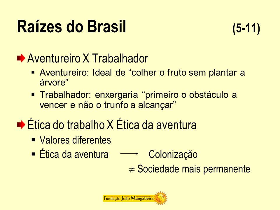 Raízes do Brasil (5-11) Aventureiro X Trabalhador