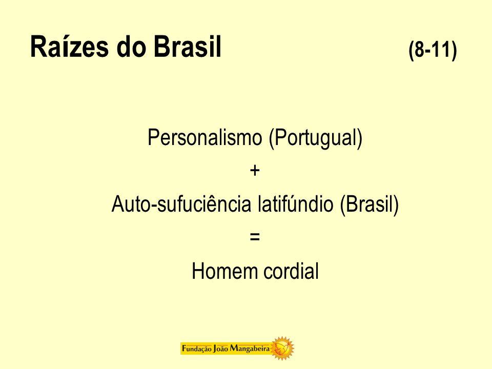 Raízes do Brasil (8-11) Personalismo (Portugual) +