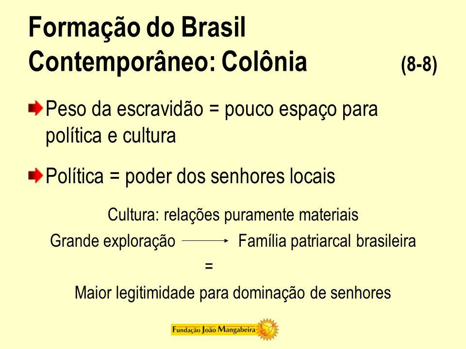 Formação do Brasil Contemporâneo: Colônia (8-8)