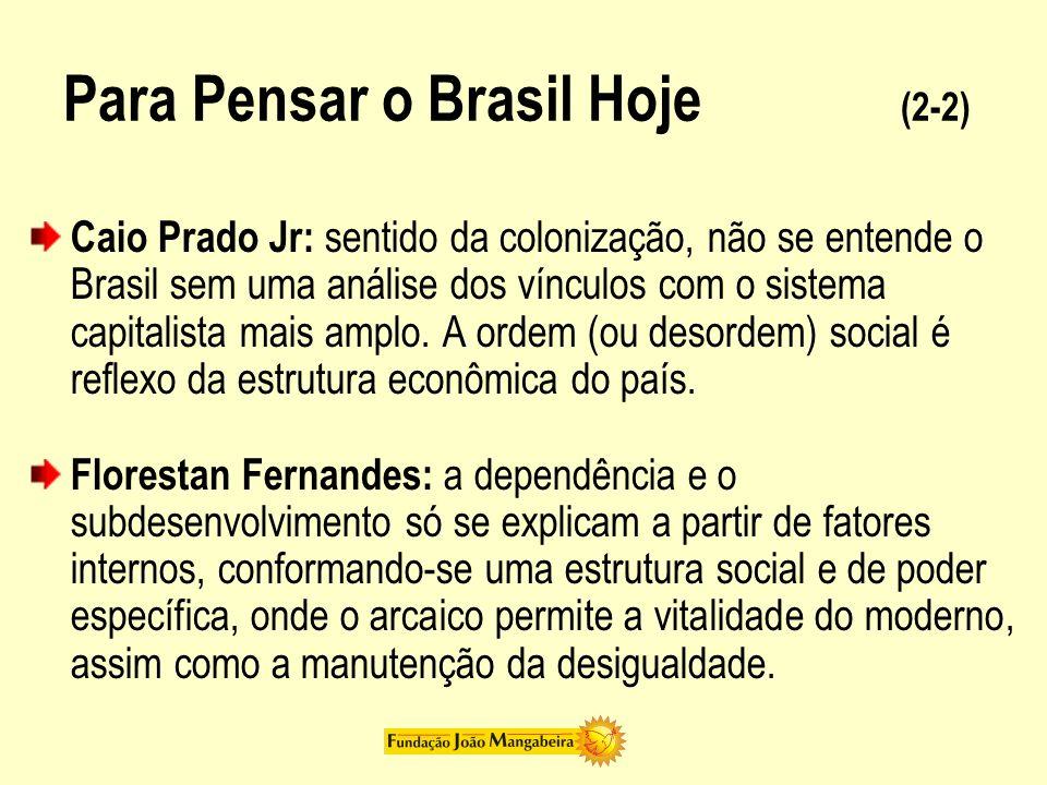 Para Pensar o Brasil Hoje (2-2)