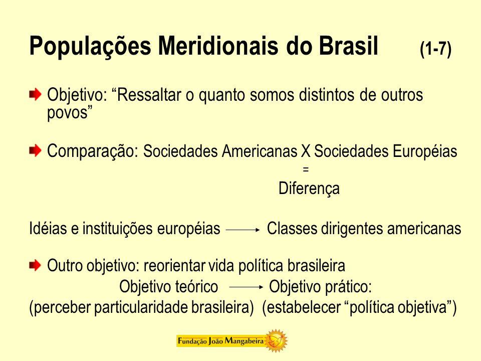 Populações Meridionais do Brasil (1-7)