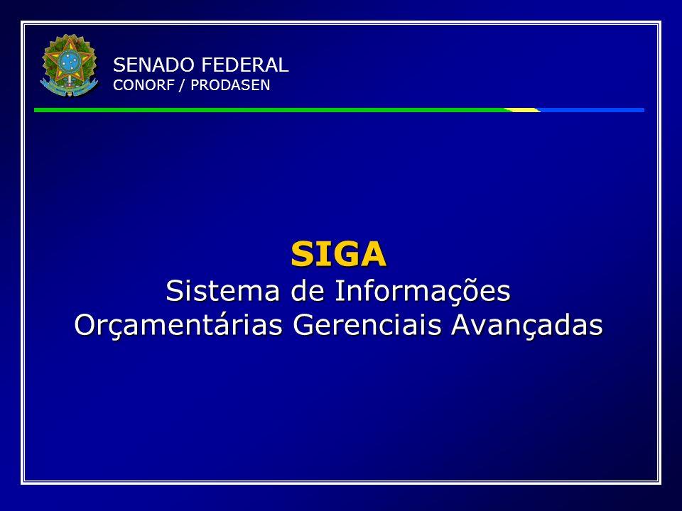 SIGA Sistema de Informações Orçamentárias Gerenciais Avançadas