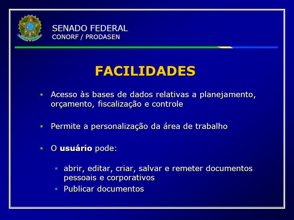 FACILIDADES SENADO FEDERAL CONORF / PRODASEN