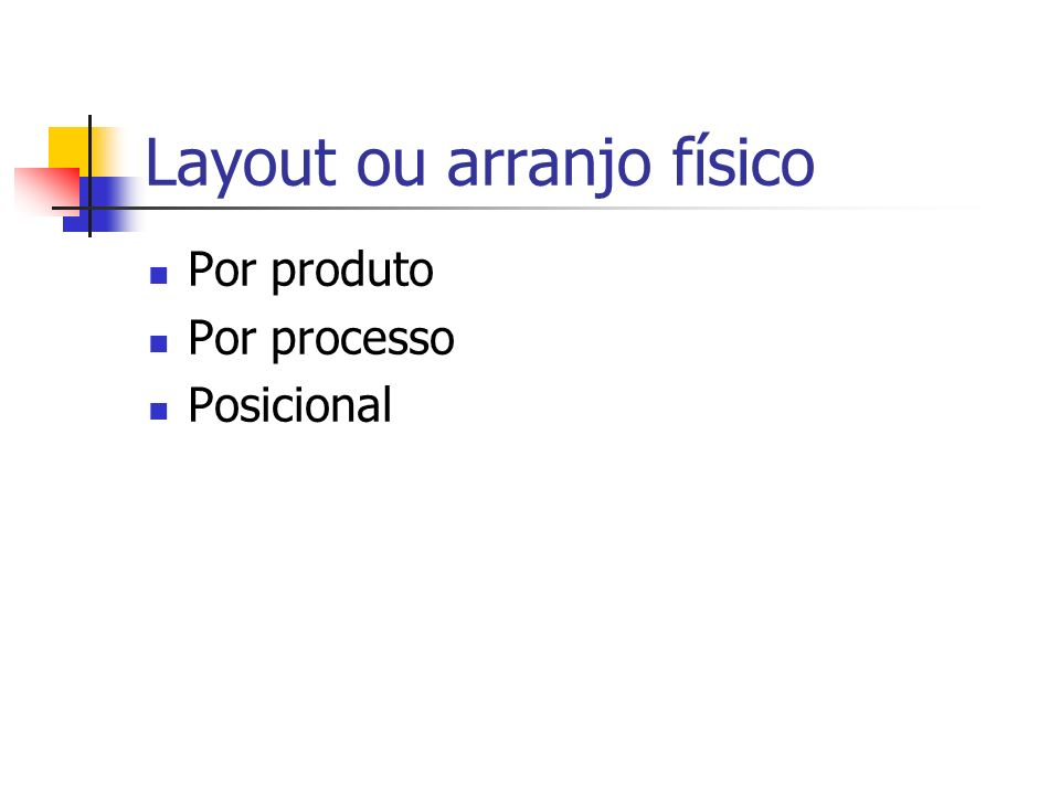 Layout ou arranjo físico