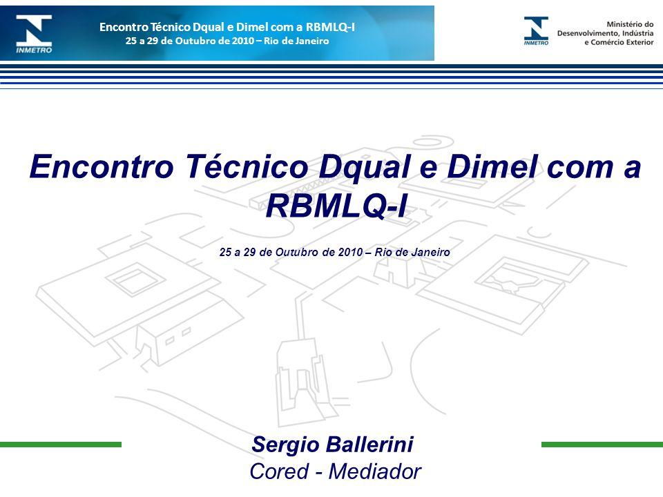 Encontro Técnico Dqual e Dimel com a RBMLQ-I