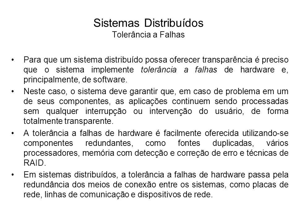 Sistemas Distribuídos Tolerância a Falhas