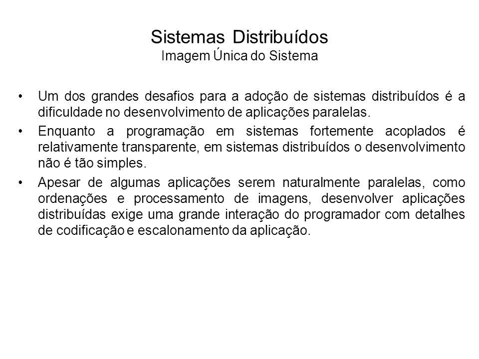 Sistemas Distribuídos Imagem Única do Sistema