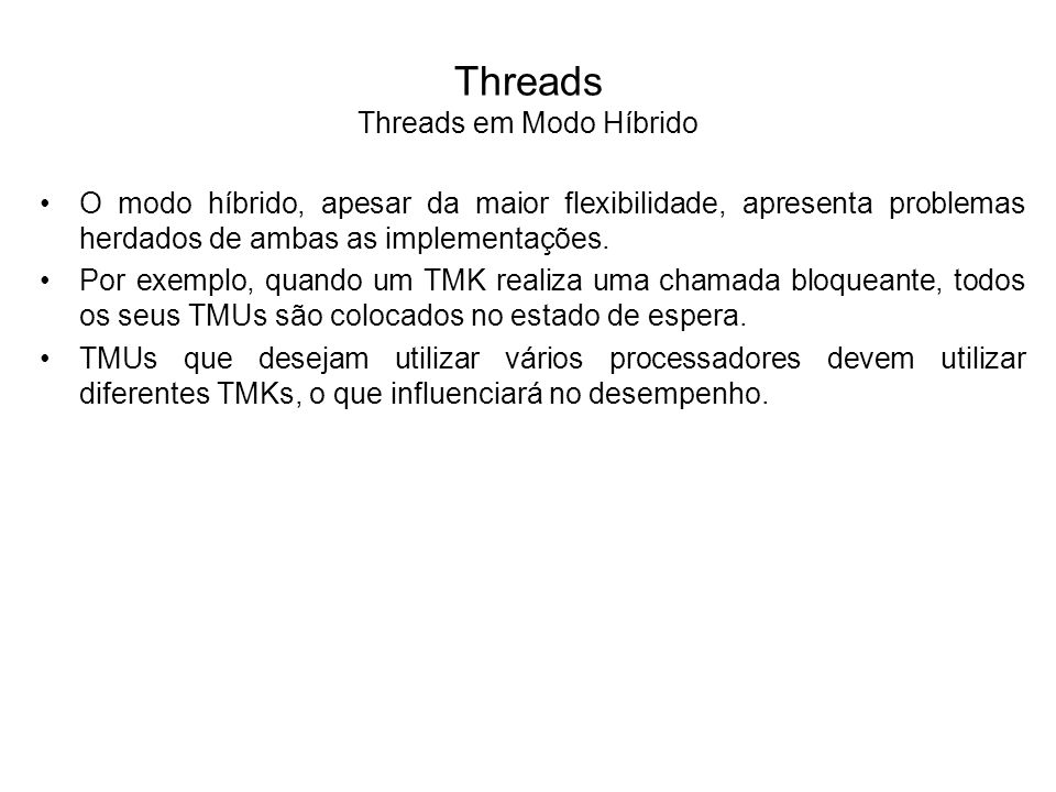 Threads Threads em Modo Híbrido