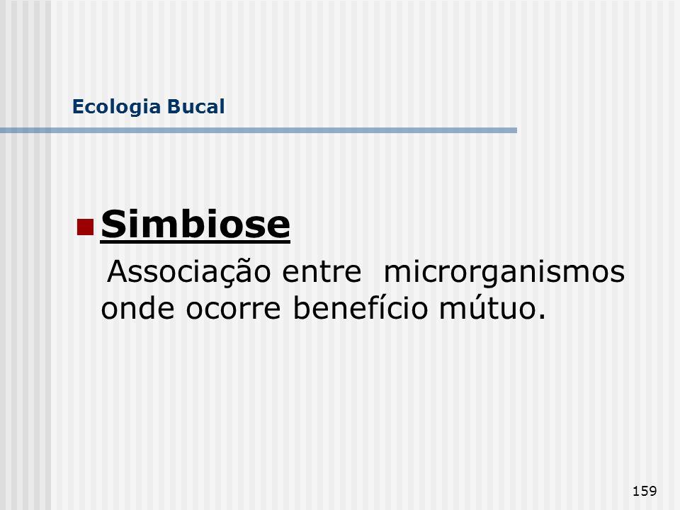 Simbiose Associação entre microrganismos onde ocorre benefício mútuo.