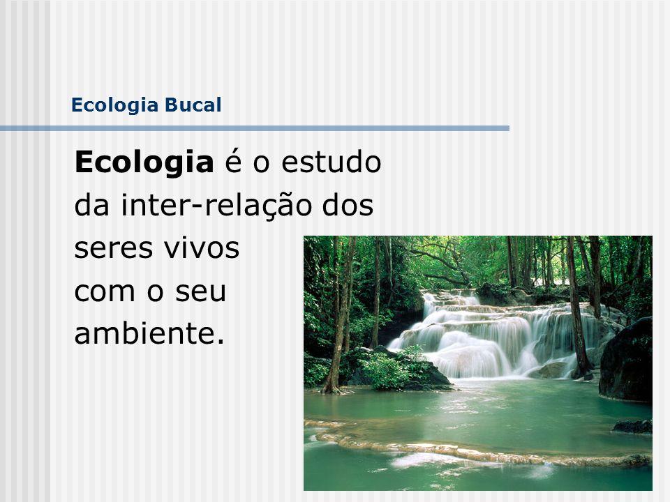 Ecologia é o estudo da inter-relação dos seres vivos com o seu