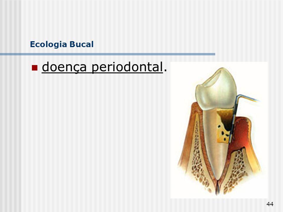 Ecologia Bucal doença periodontal.