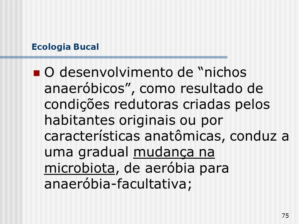 Ecologia Bucal