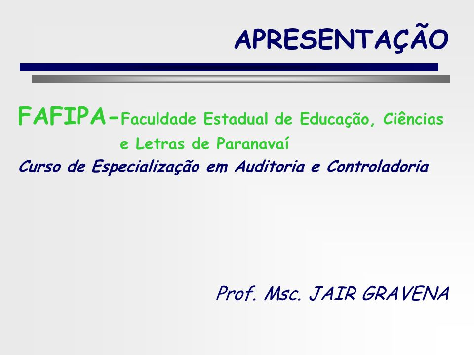 APRESENTAÇÃO FAFIPA-Faculdade Estadual de Educação, Ciências