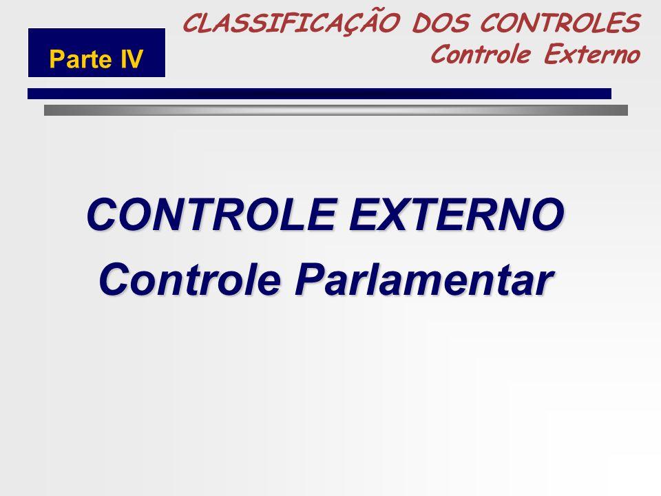 CONTROLE EXTERNO Controle Parlamentar