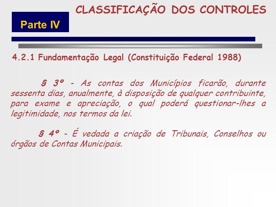 5 CLASSIFICAÇÃO DOS CONTROLES Parte IV