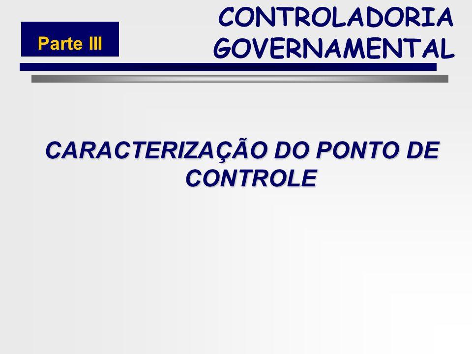 CARACTERIZAÇÃO DO PONTO DE CONTROLE