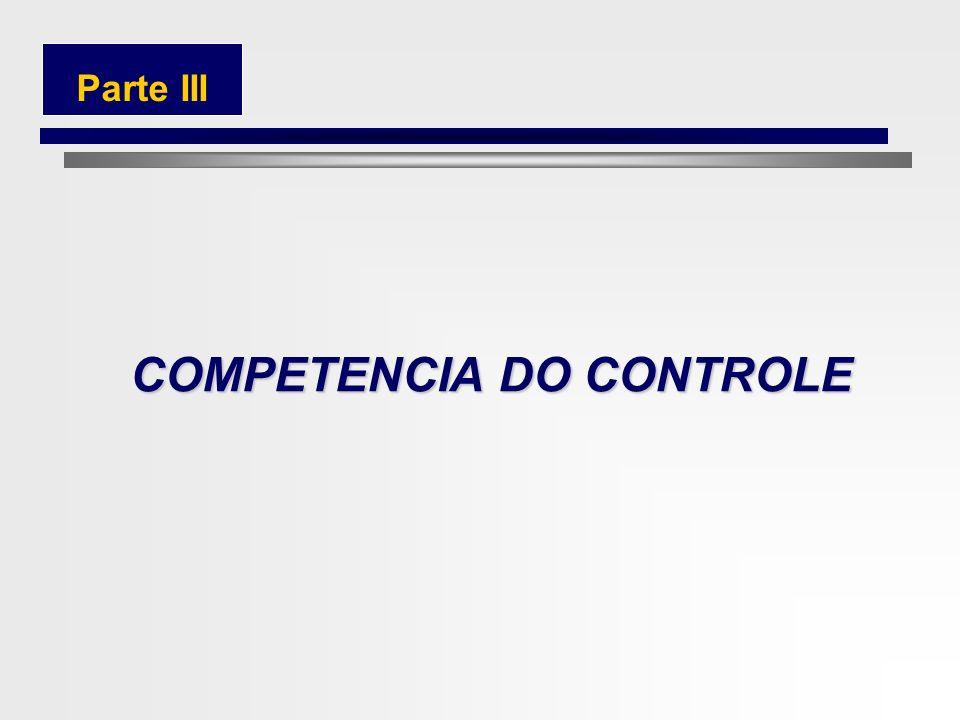 COMPETENCIA DO CONTROLE