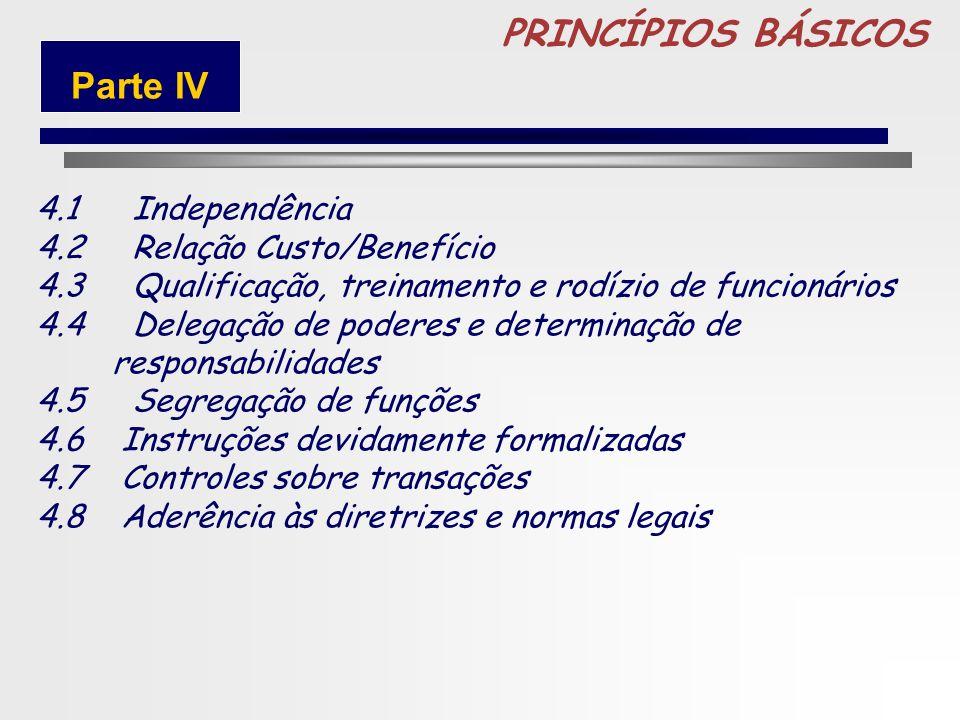 PRINCÍPIOS BÁSICOS Parte IV 4.1 Independência