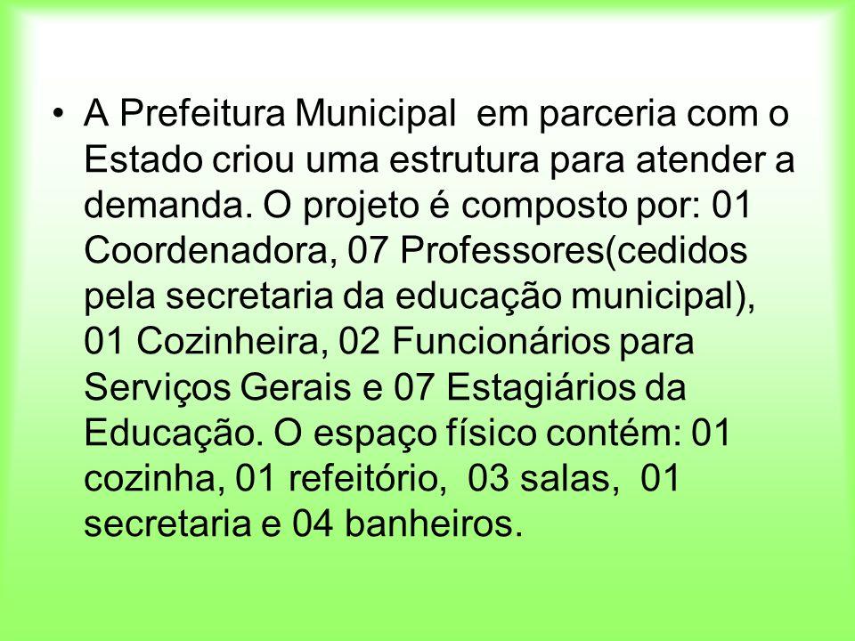A Prefeitura Municipal em parceria com o Estado criou uma estrutura para atender a demanda.