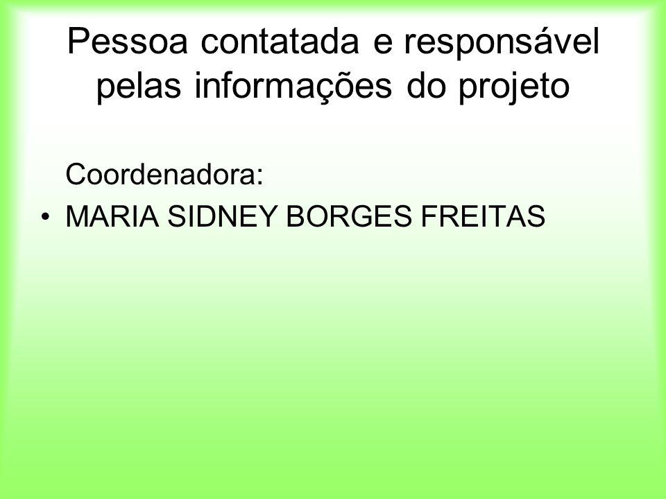 Pessoa contatada e responsável pelas informações do projeto