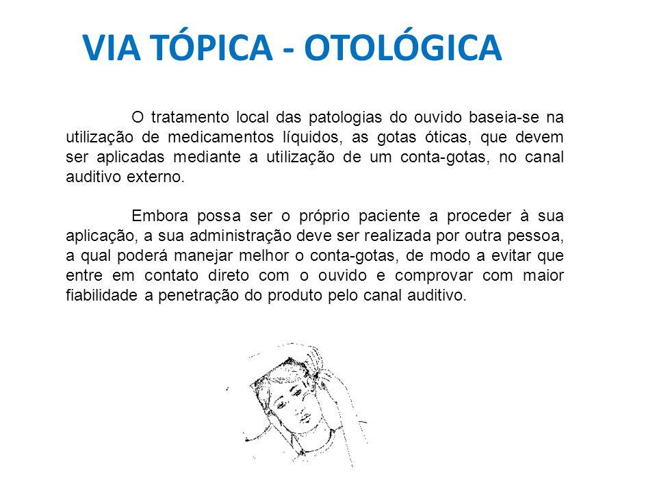 VIA TÓPICA - OTOLÓGICA