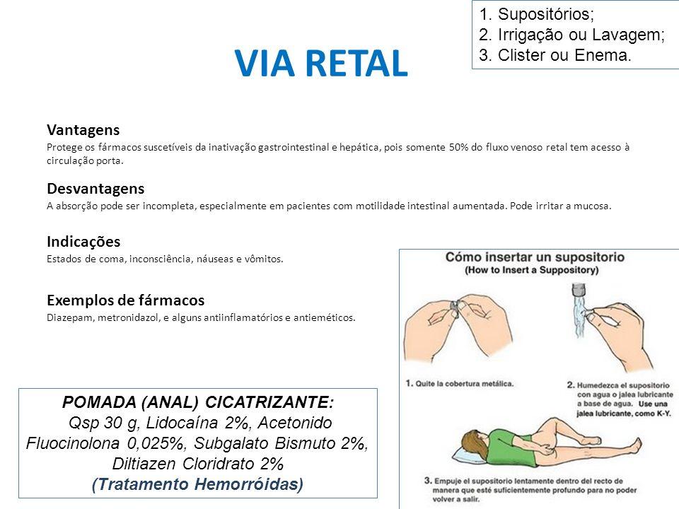 POMADA (ANAL) CICATRIZANTE: (Tratamento Hemorróidas)