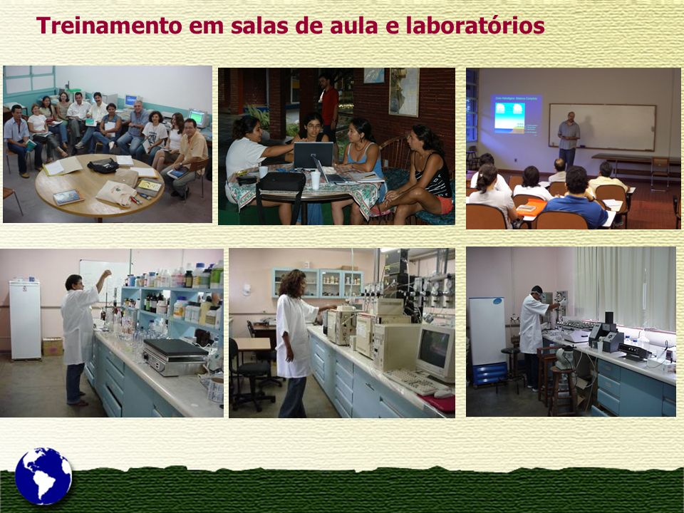 Treinamento em salas de aula e laboratórios