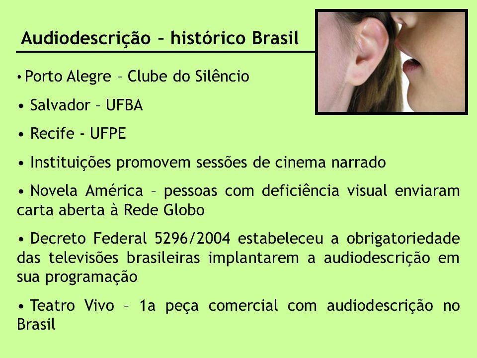Audiodescrição – histórico Brasil