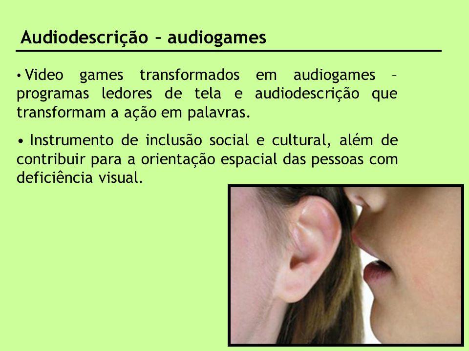 Audiodescrição – audiogames