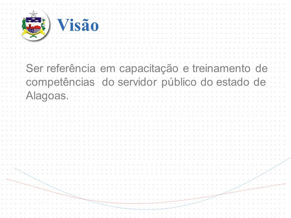 Visão Ser referência em capacitação e treinamento de competências do servidor público do estado de Alagoas.