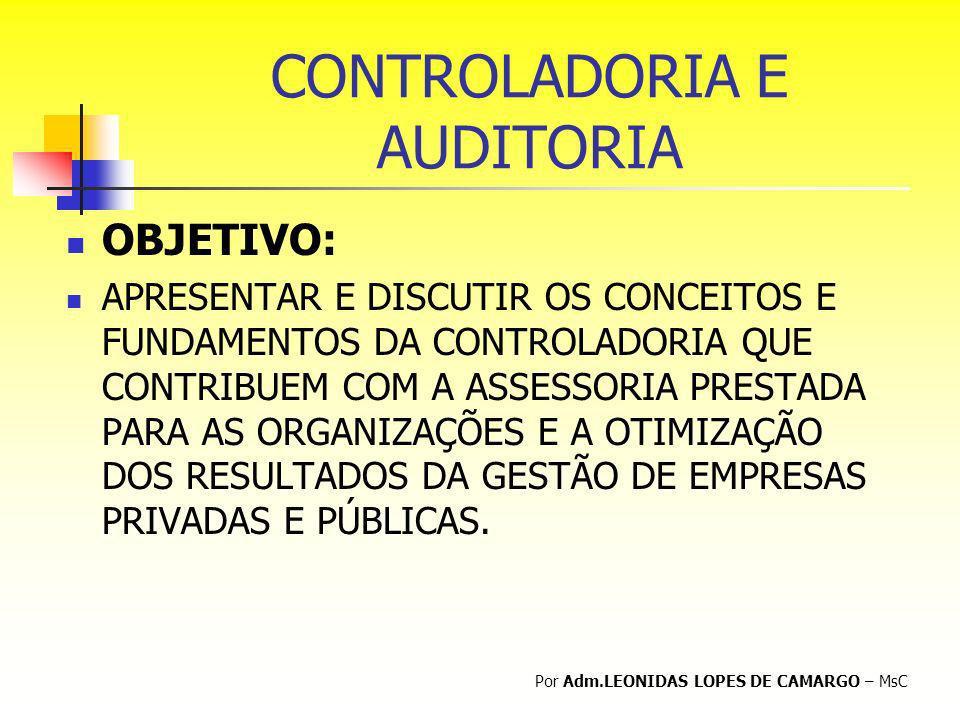 CONTROLADORIA E AUDITORIA