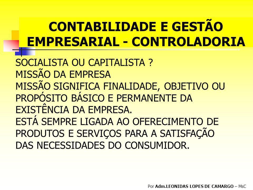 CONTABILIDADE E GESTÃO EMPRESARIAL - CONTROLADORIA