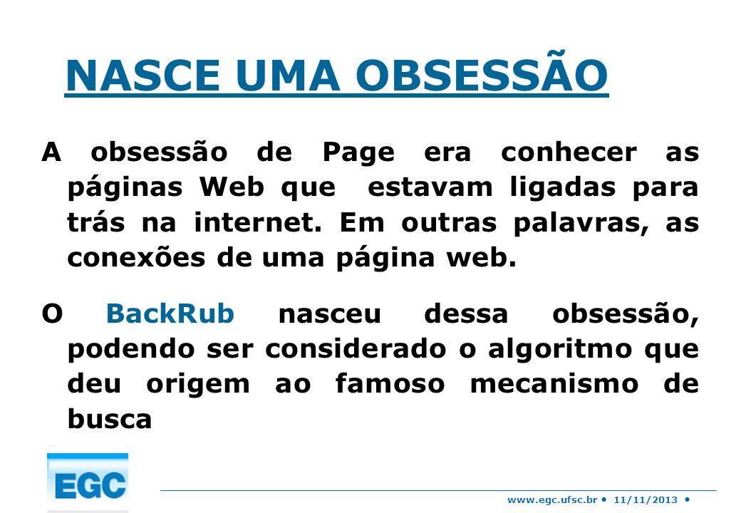 NASCE UMA OBSESSÃO