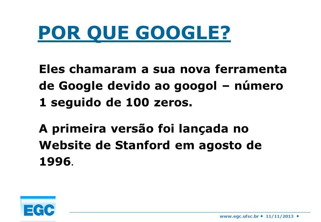 POR QUE GOOGLE Eles chamaram a sua nova ferramenta de Google devido ao googol – número 1 seguido de 100 zeros.