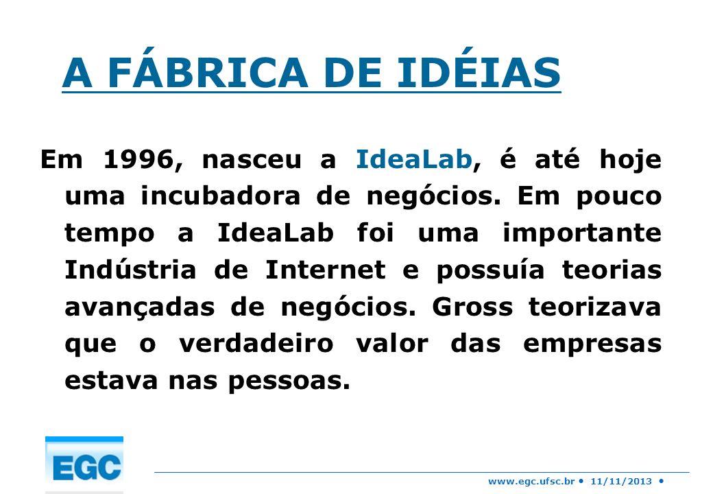 A FÁBRICA DE IDÉIAS