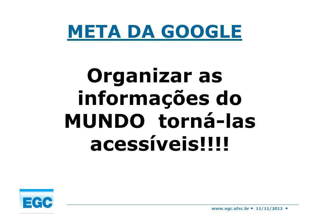 Organizar as informações do MUNDO torná-las acessíveis!!!!