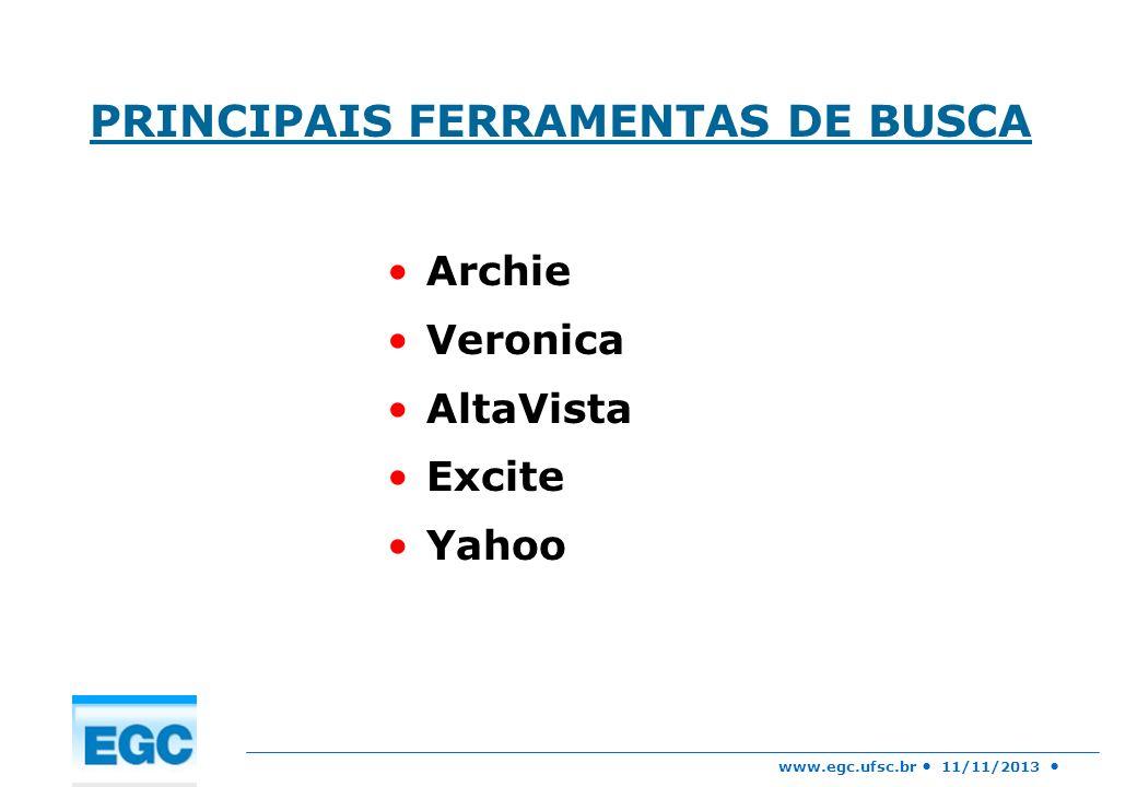 PRINCIPAIS FERRAMENTAS DE BUSCA
