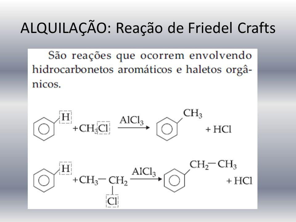 ALQUILAÇÃO: Reação de Friedel Crafts